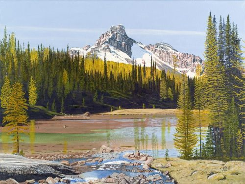 Painting - Cathedral Mountain and East Opabin Plateau