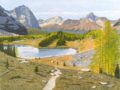 Painting - Hungabee Lake on Opabin Plateau