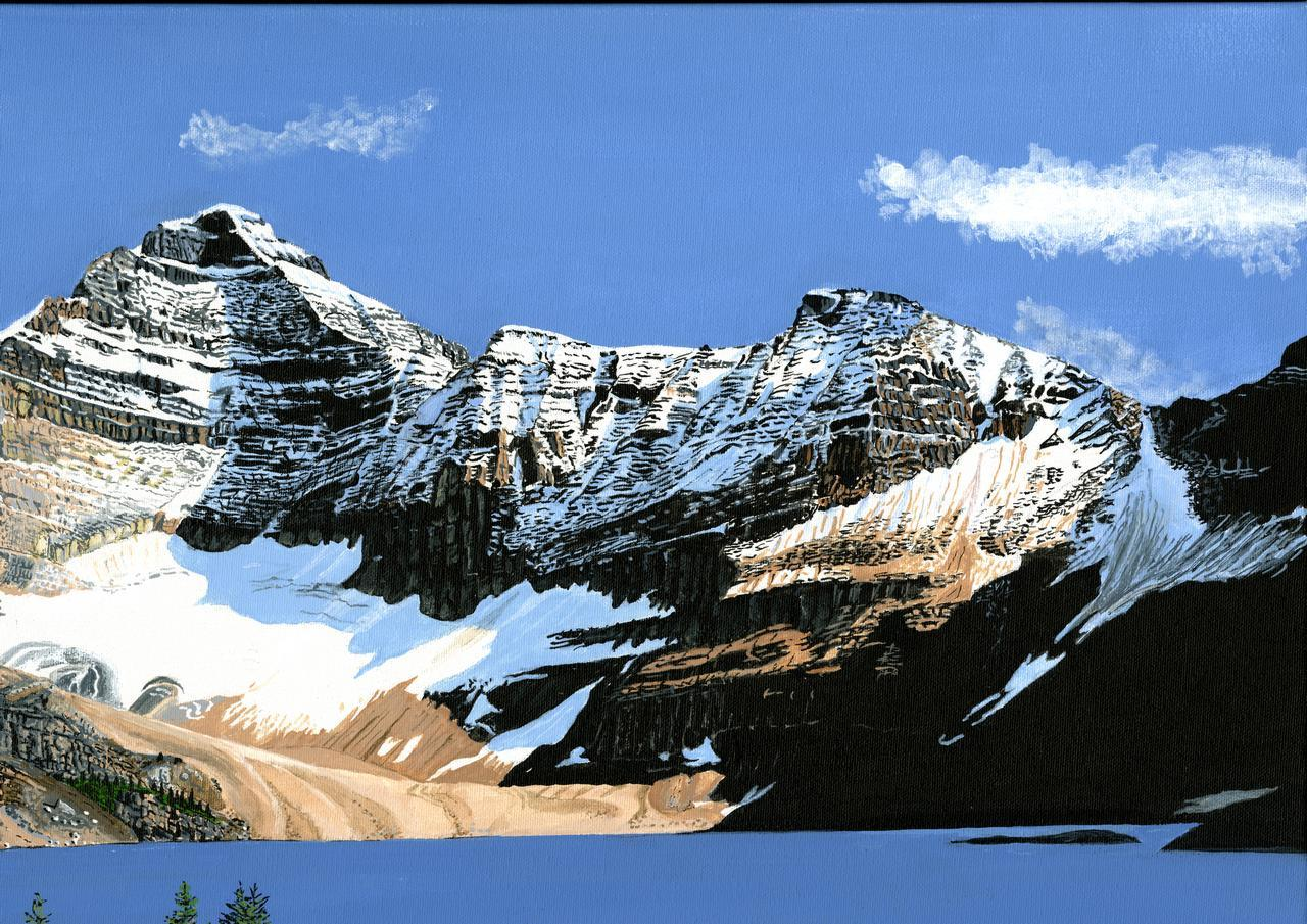 Painting - Lake McArthur and Mt Biddle