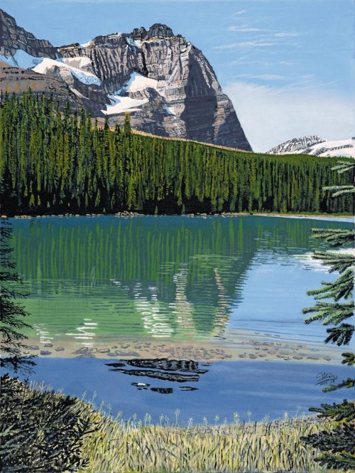 Painting - Lake OHara and Mt Odaray