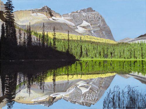 Painting - Mary Lake at Mt Odaray