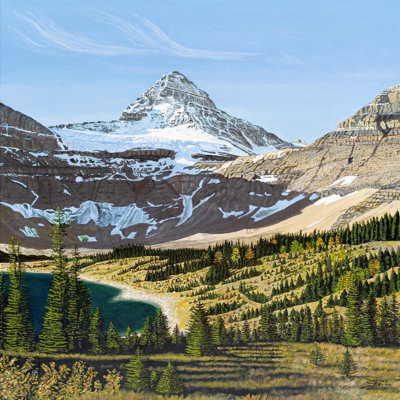 Painting - Mt Assiniboine 1