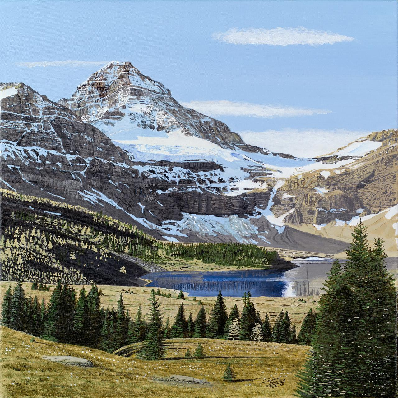 Painting - Mt Assiniboine and Magog Lake 1