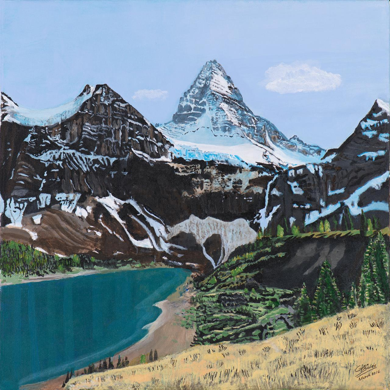 Painting - Mt Assiniboine and Magog Lake 2