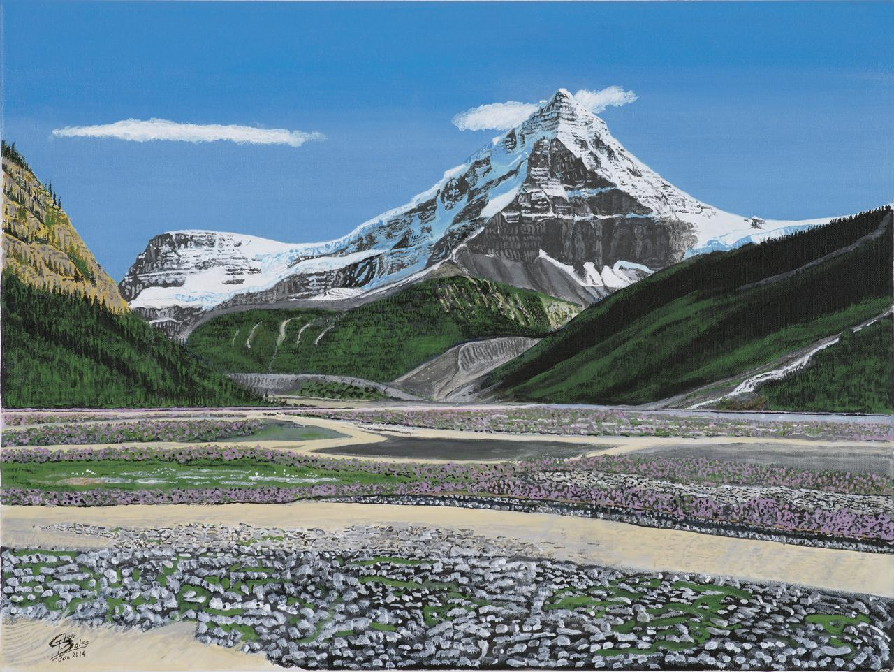 Painting - Mt Columbia From Athabasca Valley