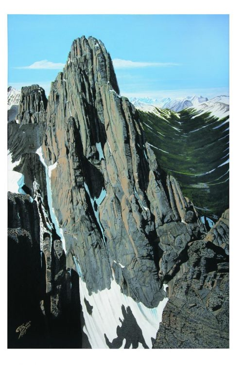 Painting - Mt Louis 1