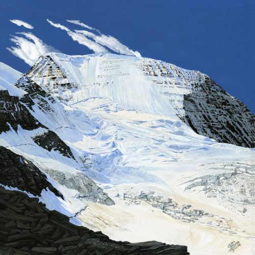 Painting - Mt Robson - North Face