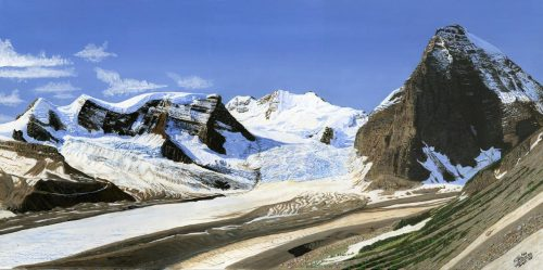 Painting - Mt Shackelton and Tusk Peak