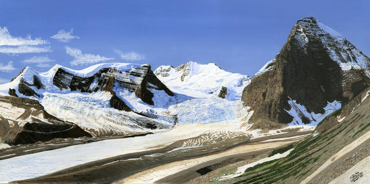 Painting - Mt Shackelton and Tusk Peak