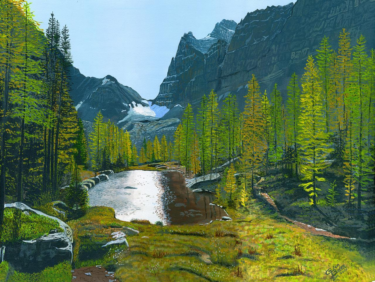 Painting - Opabin Plateau 2