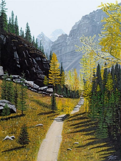 Painting - Opabin Trail