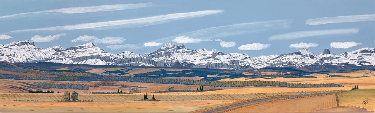 Painting - Palliser Range