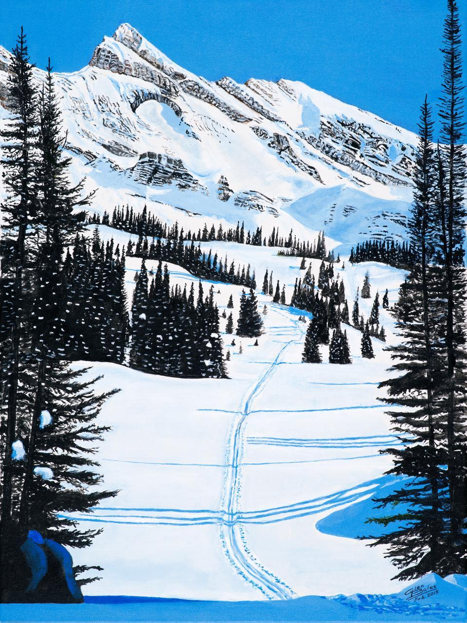 Painting - Ski Country