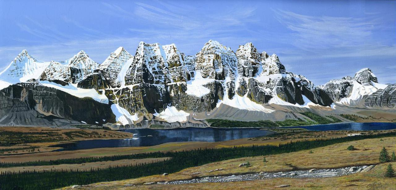 Painting - The Ramparts and Amethyst Lake