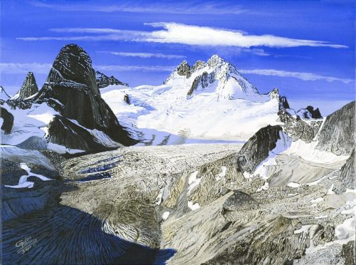 Painting - Vowell Glacier