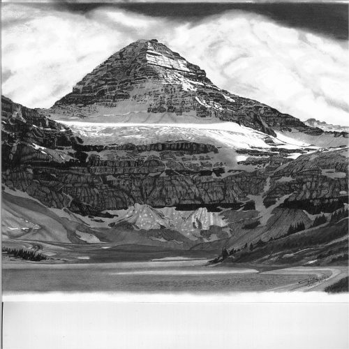 Drawing - Mt Assiniboine 2