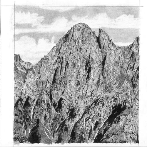 Drawing - Mt Blane