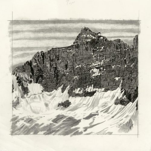 Drawing - Mt Hungabee 2