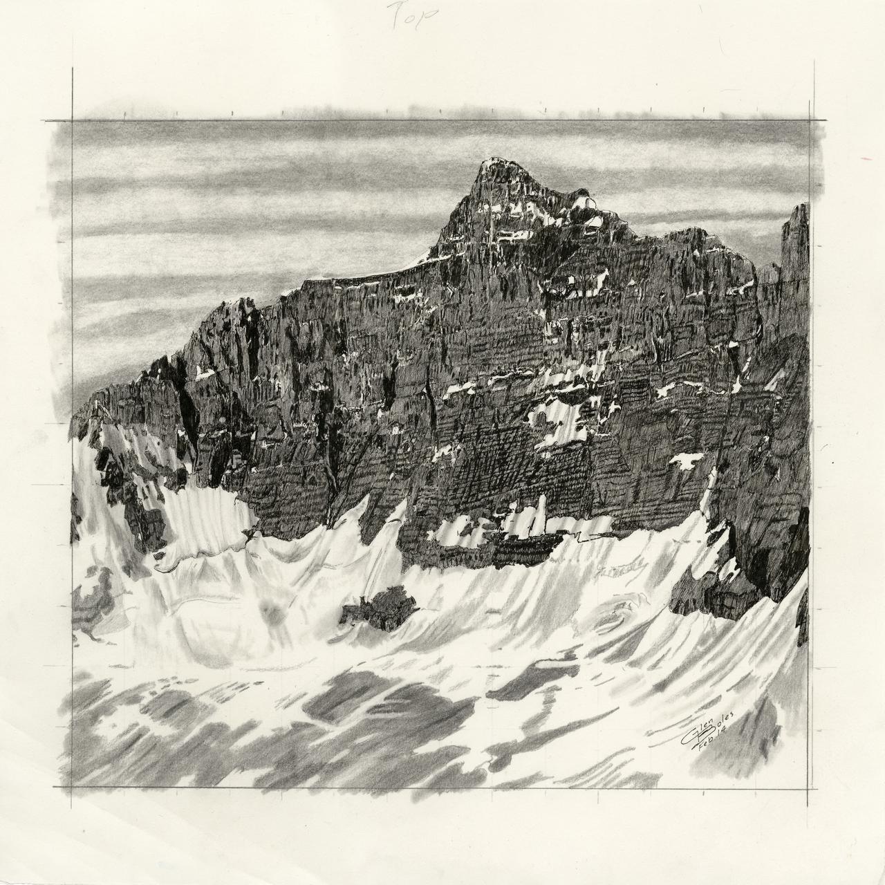 Drawing - Mt Hungabee 2