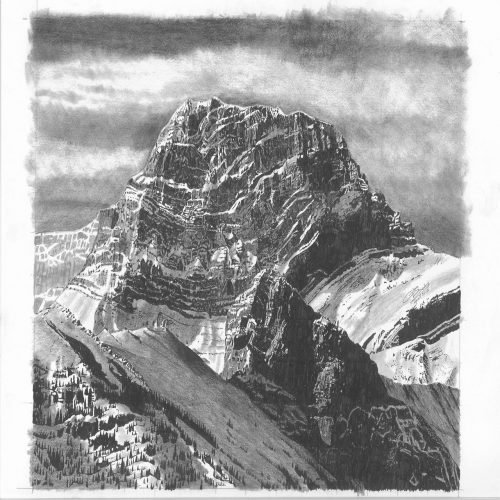 Drawing - Mt Lougheed