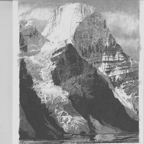 Drawing - Mt Robson 1