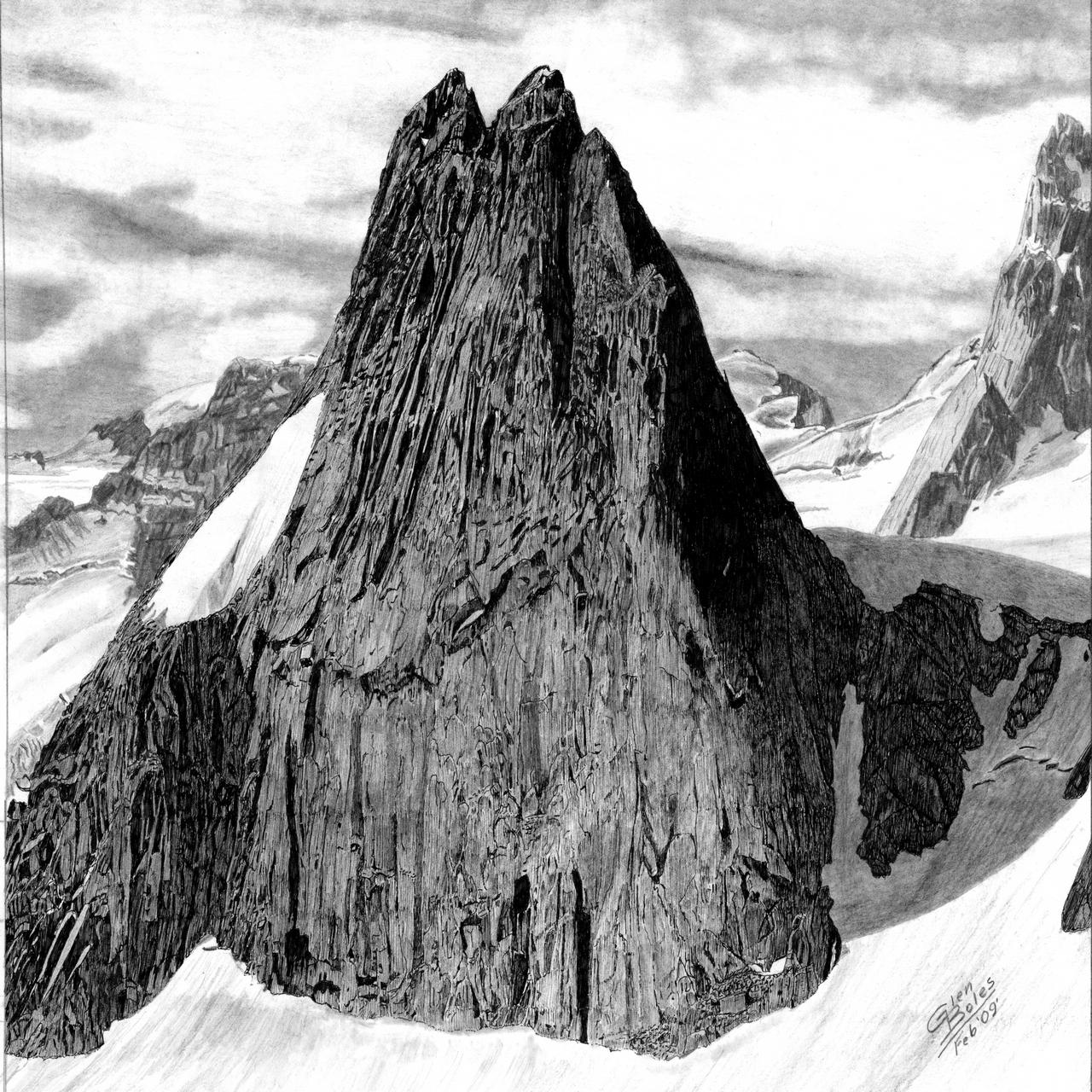 Drawing - Snowpatch Spire 2