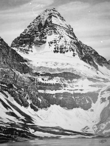 Drawing - Mt Assiniboine 1