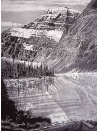Drawing - Mt Edith Cavell