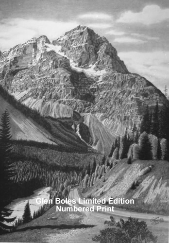Drawing - Mt Stephen