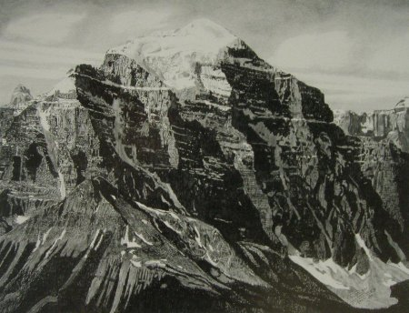 Drawing - Mt Temple - North Face