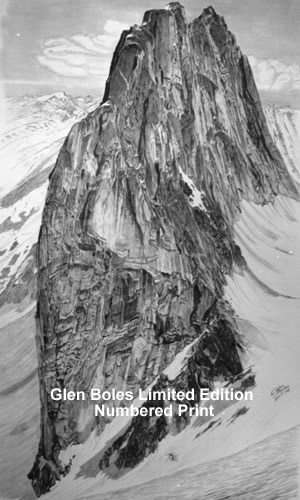 Drawing - Snowpatch Spire 1